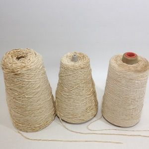 3 Yarn Cones Chenille Weaving Knitting Crafting